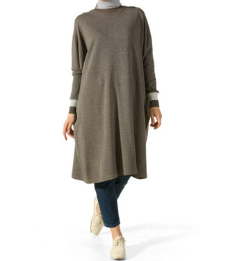 ALLDAY Tunic with batwing sleeves - Khaki