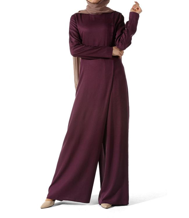 ALLDAY Elegante jumpsuit - Pruim