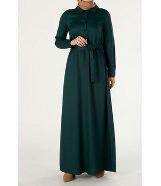 ALLDAY Lange jurk met ceintuur