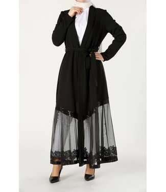 ALLDAY Kanten kimono - zwart