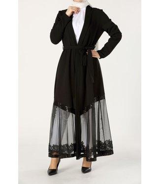 ALLDAY Lace kimono - black