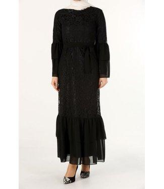 ALLDAY Kanten jurk - Zwart