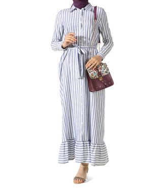 ALLDAY Strepen jurk - Paars