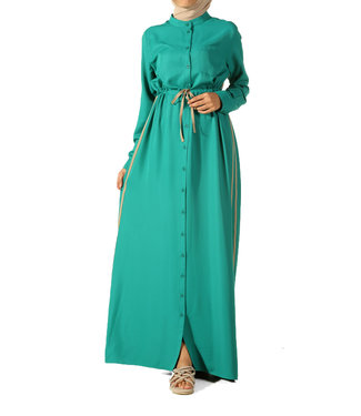 ALLDAY Lange jurk - Smaragd