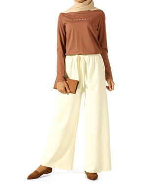 ALLDAY Wide pants - cream