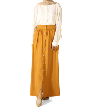 ALLDAY Long skirt - Mustard