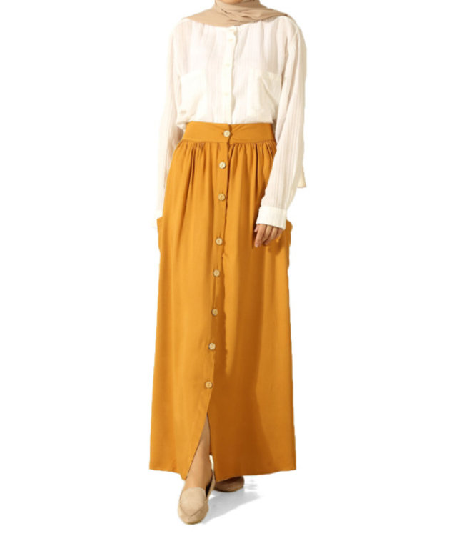 ALLDAY Long skirt - Mustard