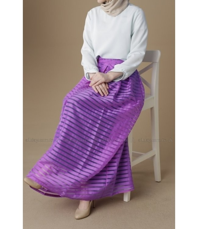 ALLDAY PATTERNED SKIRT - Purple
