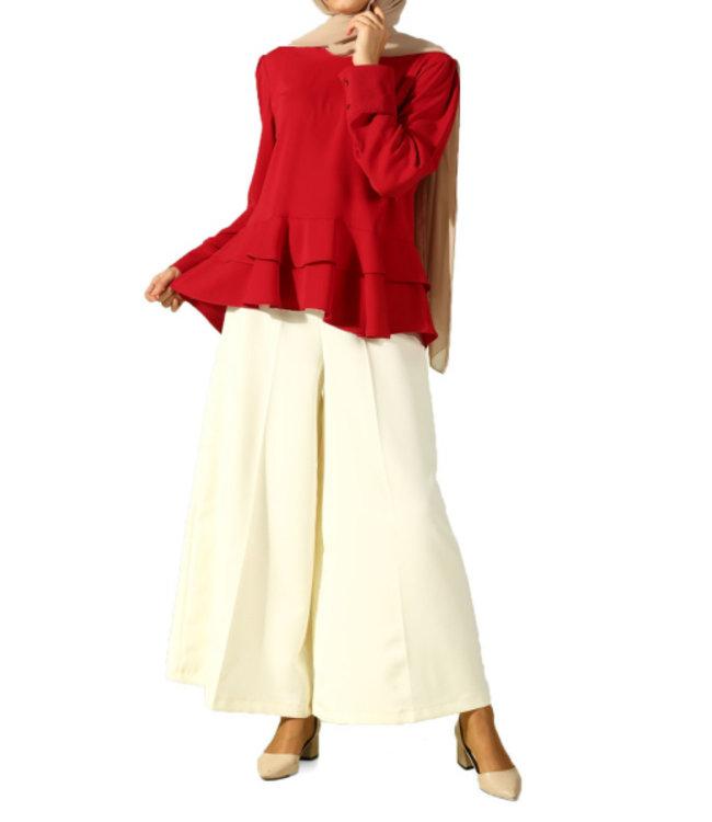 ALLDAY Wide trousers - Cream