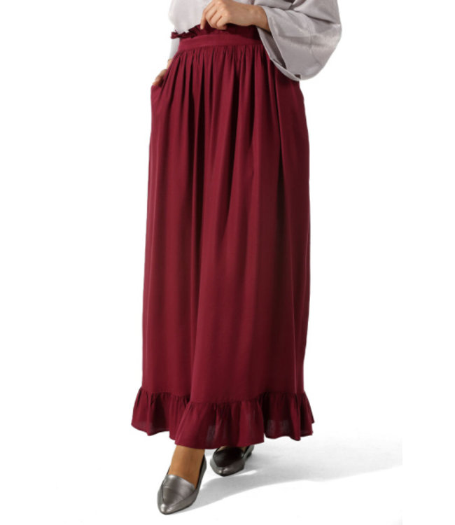 ALLDAY Long ruffle skirt - Cherry