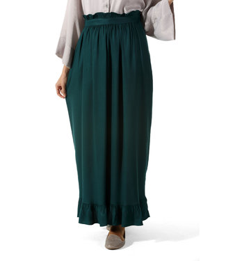 ALLDAY Long ruffle skirt - emerald