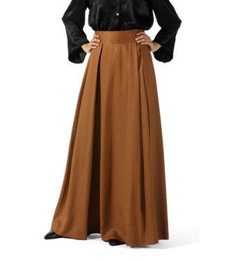 ALLDAY Pleated skirt - Light brown