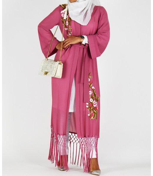 Lange kimono - Roze