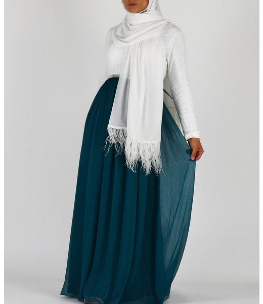 Kanten jurk - Smaragd
