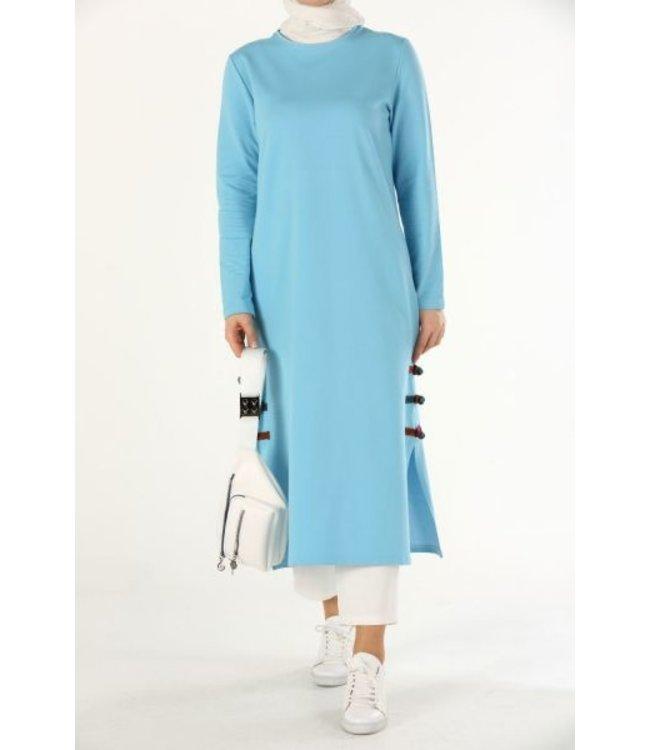 ALLDAY Lange sweater - Licht blauw