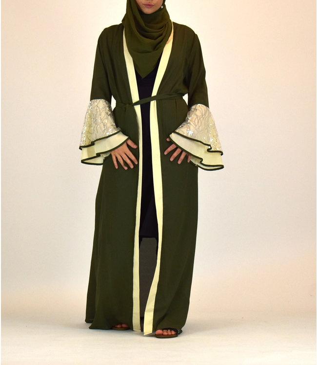 Sófani Lange kimono - Olijfgroen