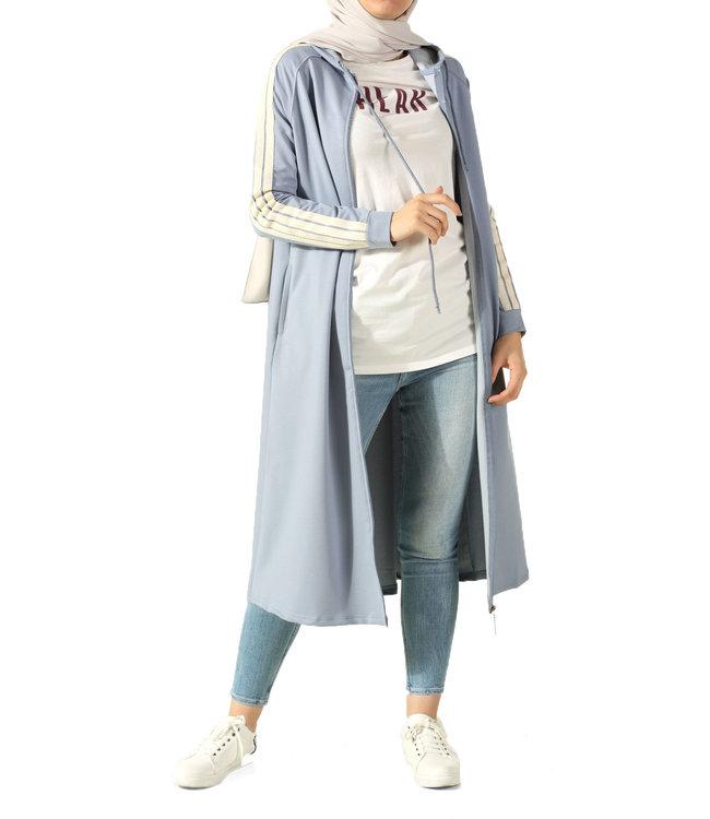 ALLDAY Lange hoodie - Licht blauw