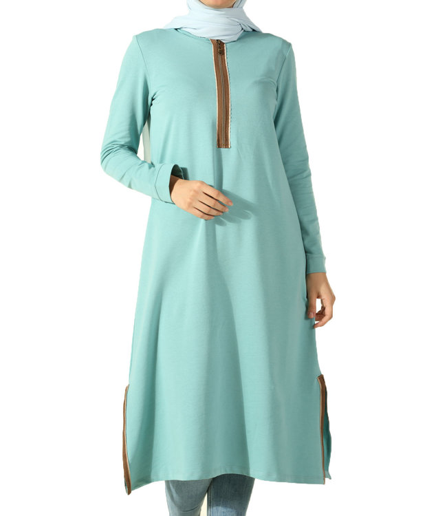 ALLDAY Long tunic - turquoise