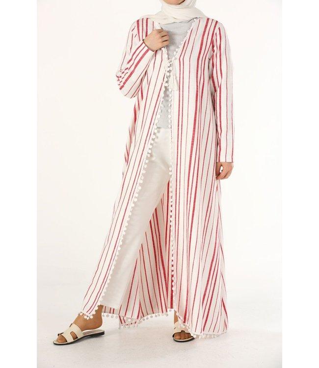 ALLDAY Cotton kimono - Red