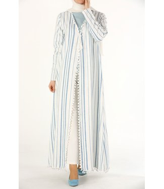 ALLDAY Cotton kimono - light blue