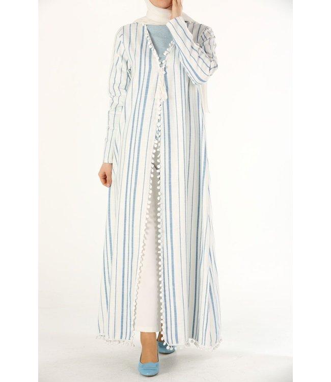ALLDAY Cotton kimono - light blue