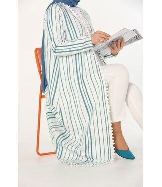 ALLDAY Cotton kimono - Petrol