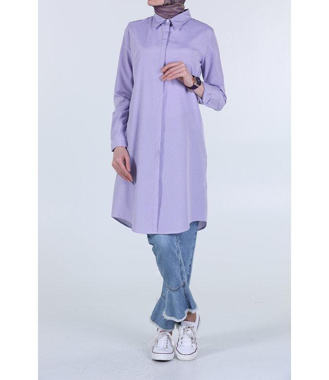 ALLDAY Plaid blouse - lilac