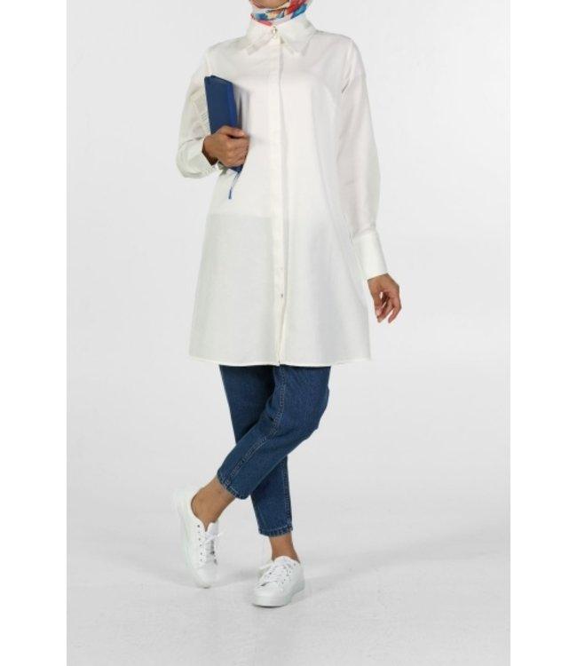 ALLDAY Lange blouse - Ecru