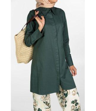 ALLDAY Lange blouse - Petroleum groen