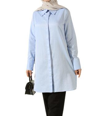 ALLDAY Long blouse - Light blue
