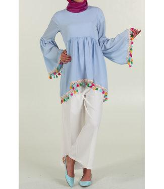 Tassel blouse - Baby blauw