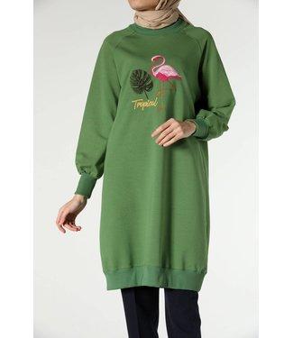 ALLDAY Lange sweater - Lentegroen