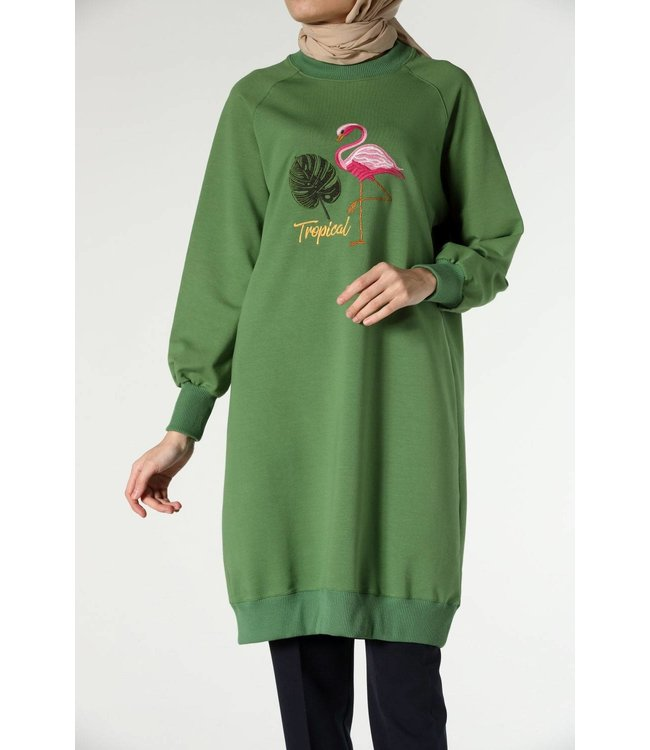 ALLDAY Long sweater - Spring green