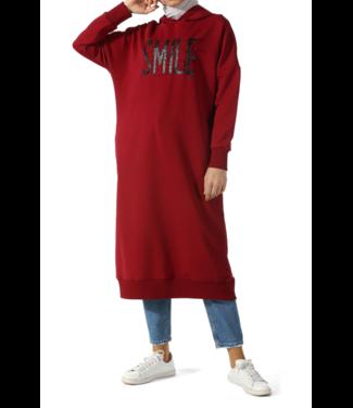 ALLDAY Long hoodie - Bordo