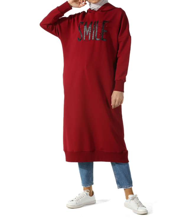 ALLDAY Lange hoodie - Bordo