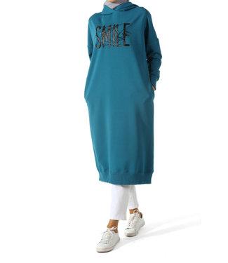 ALLDAY Long hoodie - Petrol