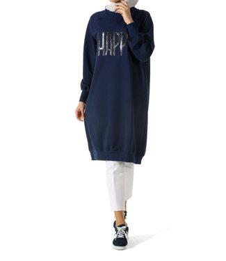 ALLDAY Lange sweater - Indigo