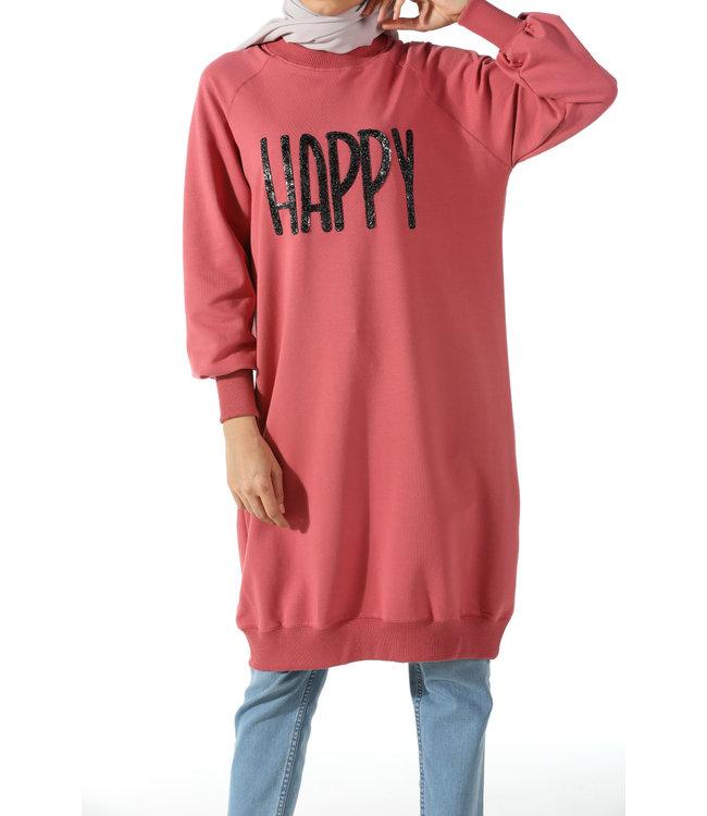 ALLDAY Lange sweater - Roze