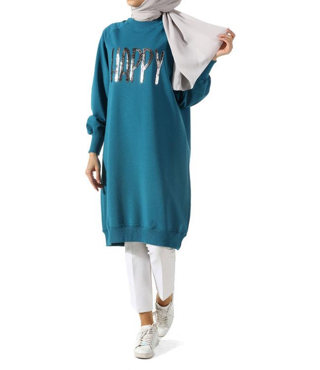 ALLDAY Long sweater - Petrol