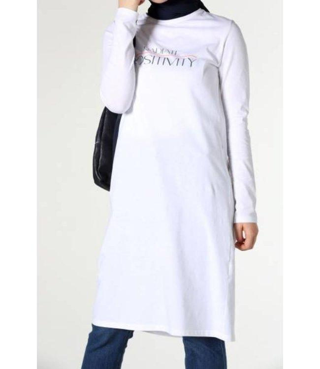 ALLDAY Long top - white