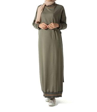 ALLDAY Sportief design jurk - Kaki