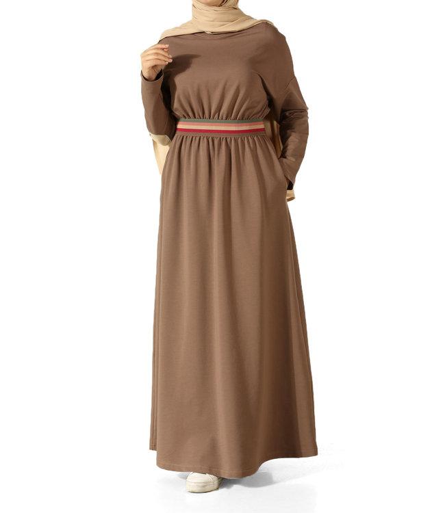 ALLDAY Comfortabele  jurk - Bruin