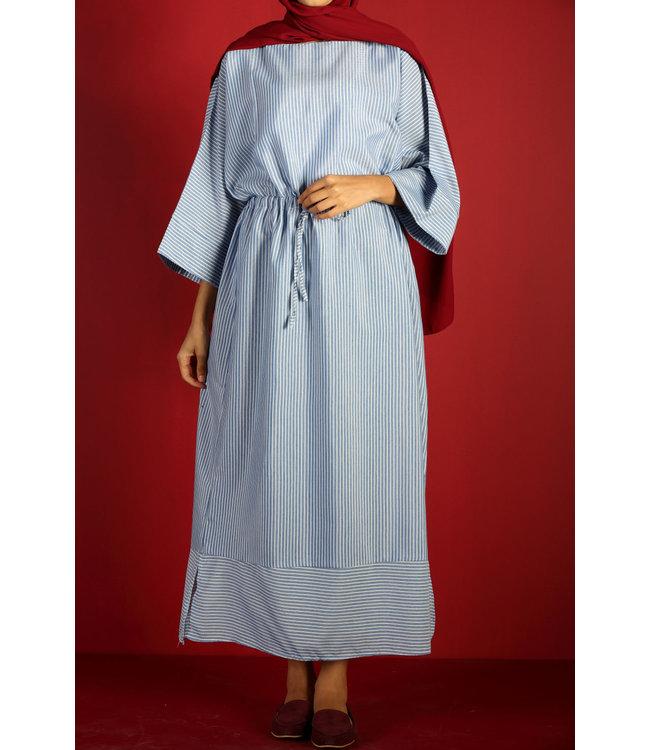 Striped dress - blue