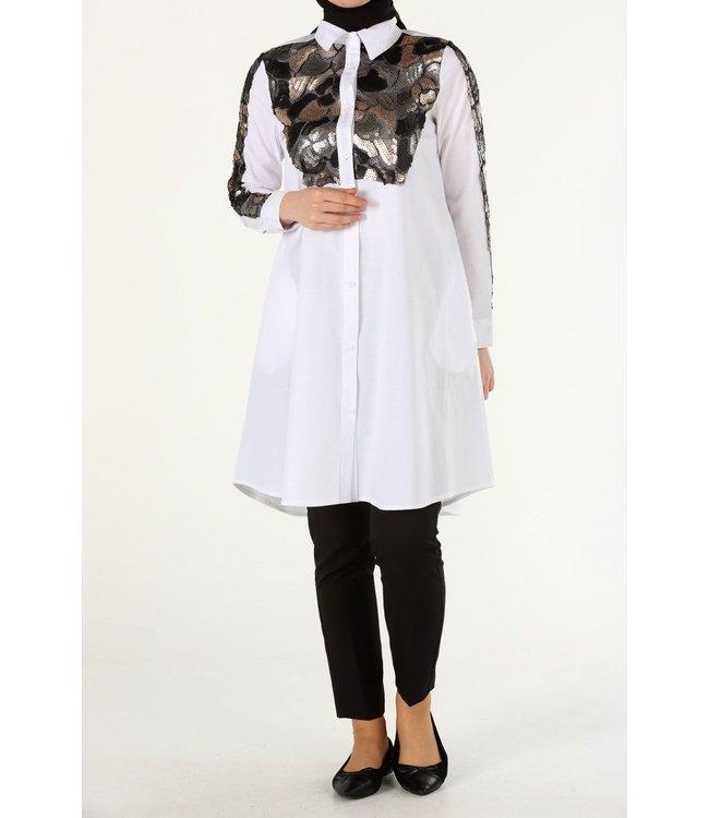 Long blouse - White