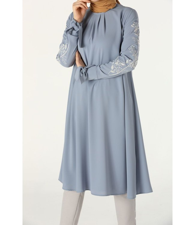 ALLDAY Tunic with embroidery - baby blue