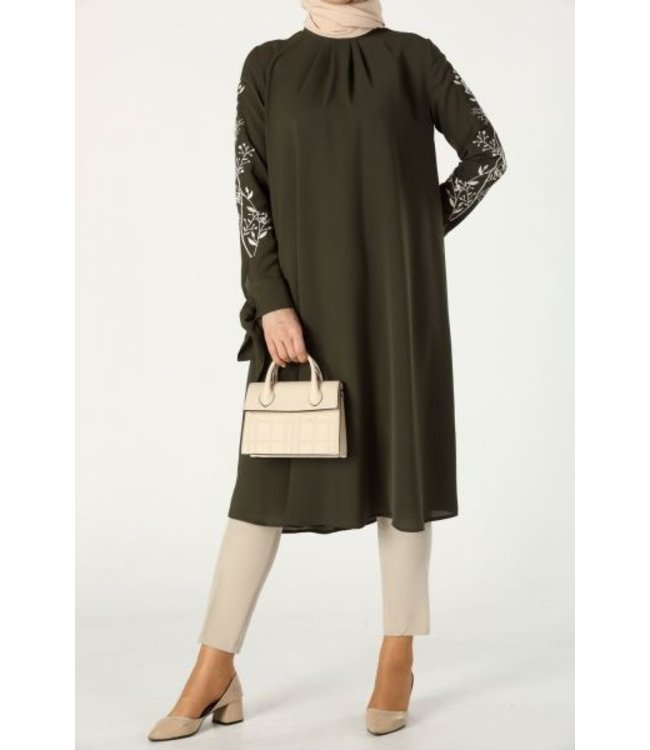 ALLDAY Tunic with embroidery - Khaki