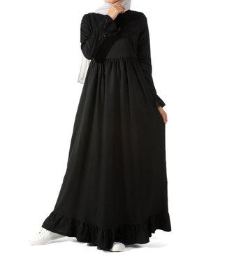ALLDAY Dress with flounces - Black