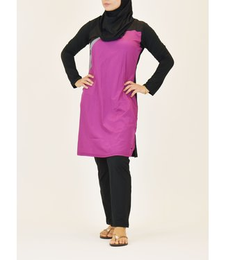 5-piece burkini set - Purple / Black
