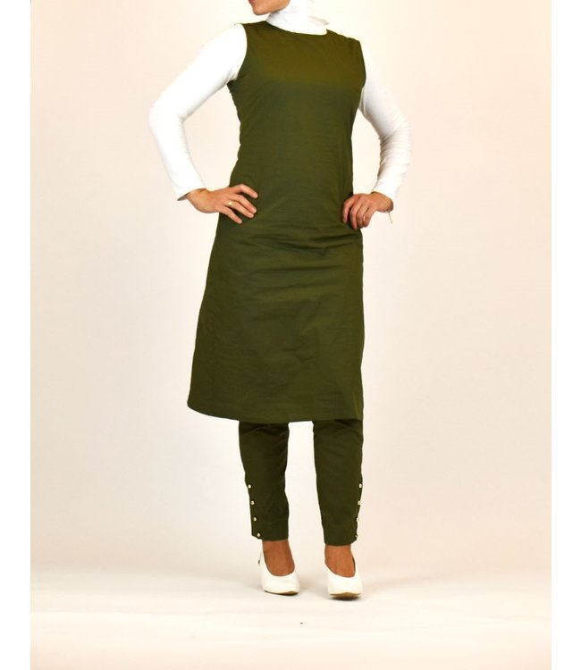 Sófani Pants and tunic set - Olive green