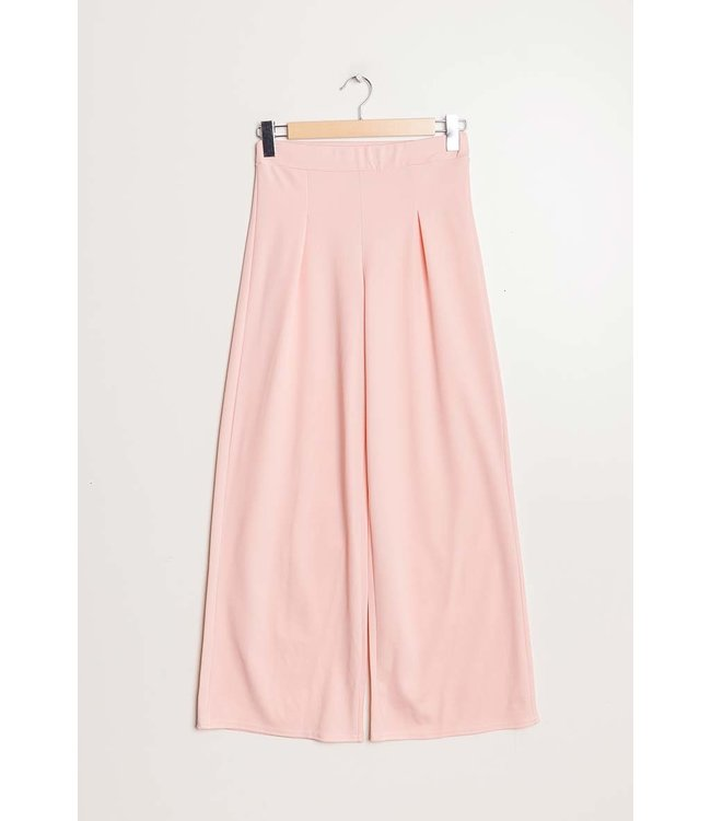 Wide trousers - light pink